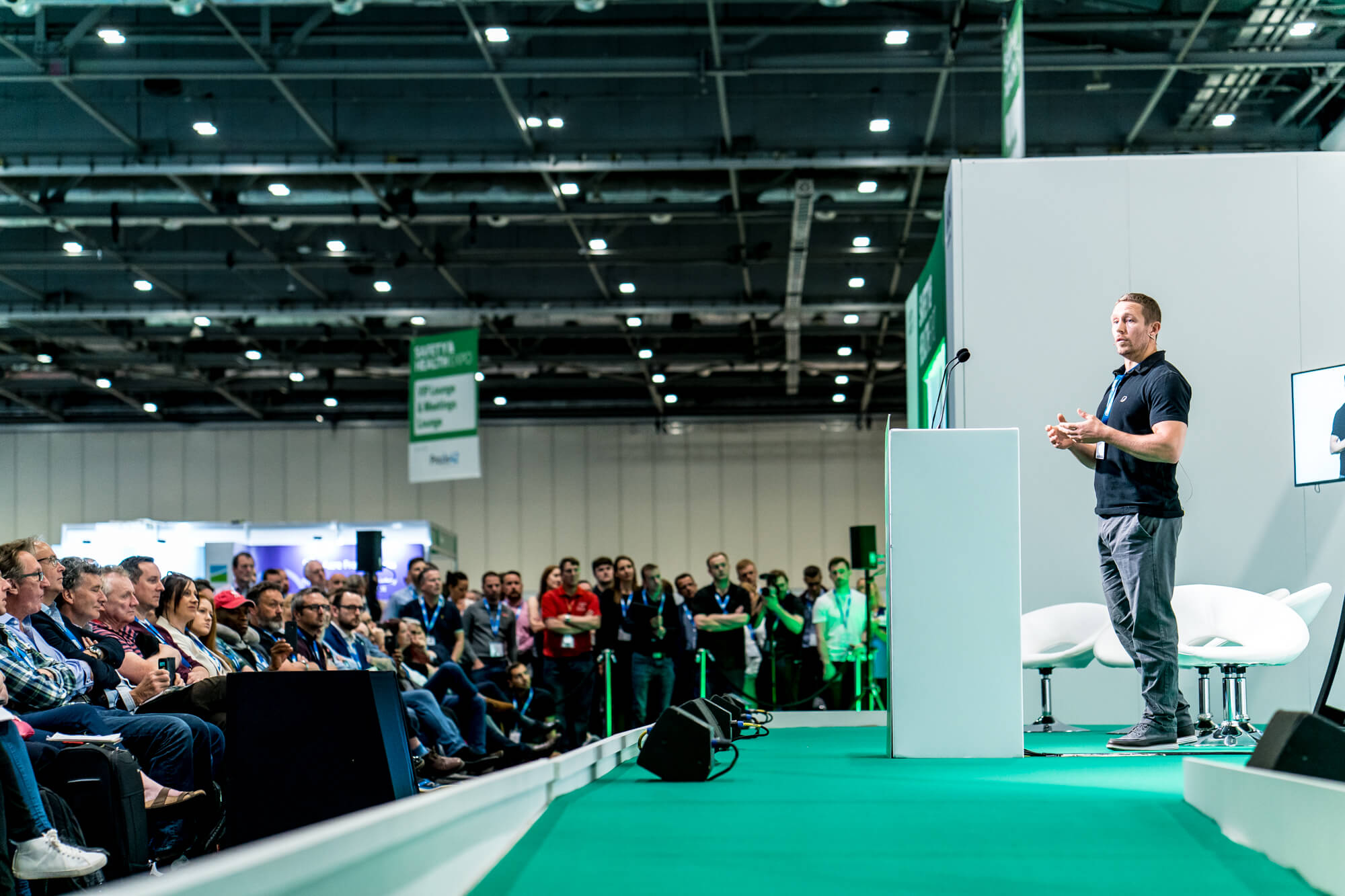 Jonny Wilkinson giving a seminar at Safety & Health Expo 2019